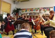 Cypress String Quartet, in Halle, Franziskus-Grundschule