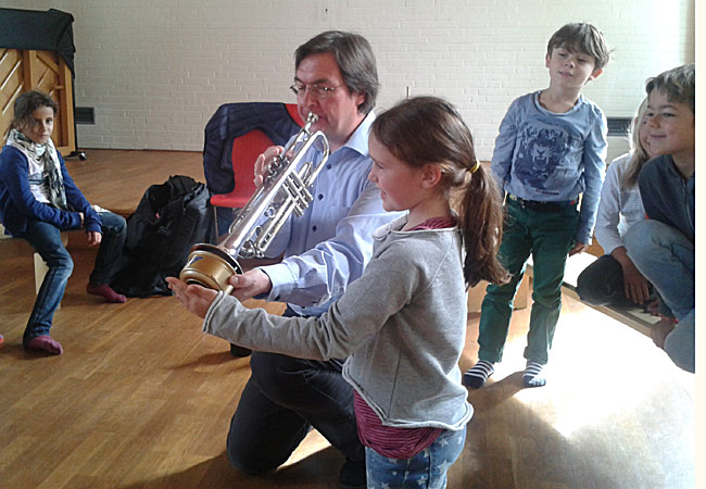 Matthias Höfs, Trompete, in Hamburg, Schule an der Gartenstadt