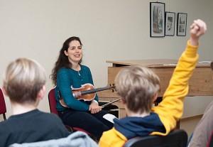 Sophia Jaffé, Violine, in Rostock, Gymnasium Käthe Kollwitz