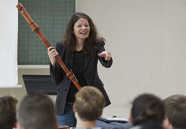 Dorothee Oberlinger, Flöte , in Bonn, Tannenbusch Gymnasium