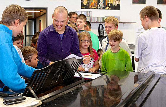 Lars Vogt, Piano, in Köln, Anna-Freud-Schule - ©Susanne Lührig