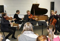 Fauré Quartett in Coesfeld, Städtisches Heriburg Gymnasium