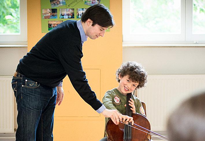 Daniel Müller-Schott, Cello, in Frankfurt, Merianschule