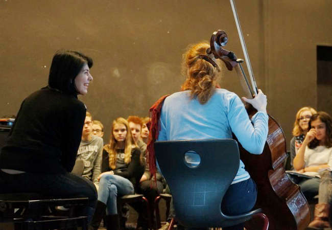 Harriet Krijgh, Cello und Magda Amara, Piano, in Hannvoer, Schillerschule © klaus peters - atelier ph