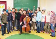 Leonard Elschenbroich, Cello, in Bremen, Bürgermeister-Smidt-Schule