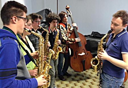 Signum Saxophon Quartet in Padua, Liceo Marchesi