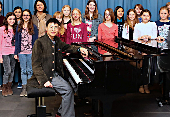 Kit Armstrong, Piano, in Lampertheim, Lessing-Gymnasium