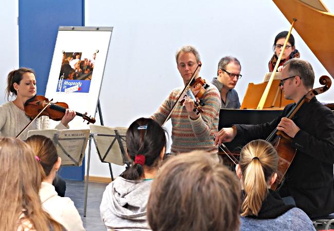 Fauré Quartett, in Bergen (Rügen), Ernst-Moritz-Arndt-Gymnasium©FMV