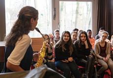 Asya Fateyeva (Saxophon), Hamburg, Goethe-Gymnasium ©D. Helling