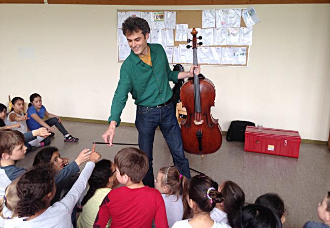 Andreas Müller (Cello), Köln, GGS Westerwaldstraße