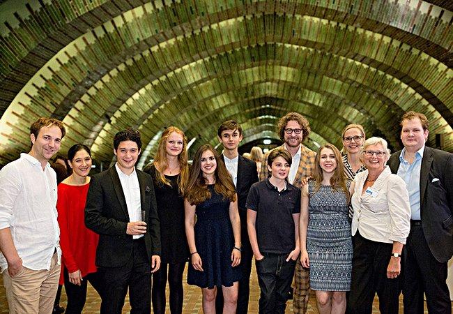 Herbert Schuch, Sharon Kam, Erik Schumann, SchülerInnen des Humboldtgymnasiums Düsseldorf, Ariane Stern , Sabine von Imhoff, Jesko Sirvend © S. Diesner
