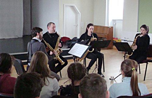 sonic.art Saxophonquartett, Rehfelde, Grundschule Rehfelde