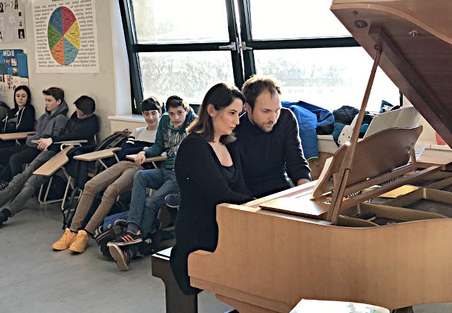 Gülru Ensari (Piano) | Herbert Schuch (Piano), Köln, Schiller-Gymnasium Köln