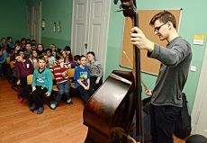 """Dominik Wagner (Kontrabass), Greiz, Grundschule """"Ephraim Lessing"""""""