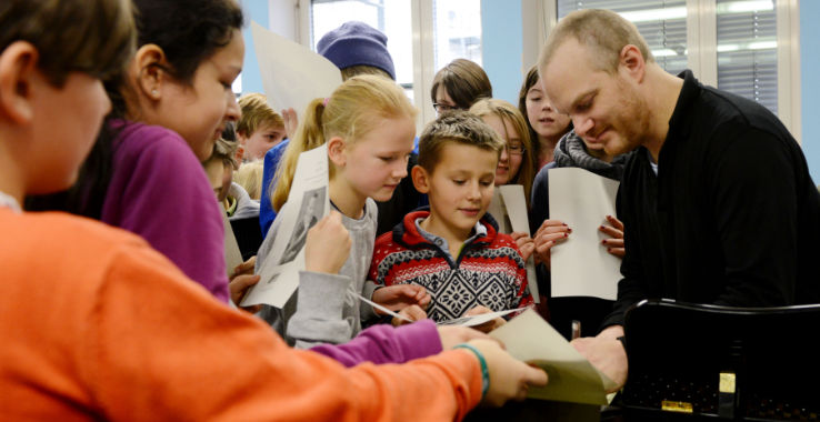 Lars Vogt Künstler Besuch in der Schule